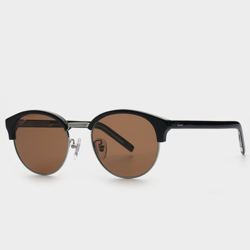 6b9f6bc8279ef Product    FAKE ME  QUIDDLER BSV (Auburn Brown Lens) Half Frame Rounded  Sunglasses